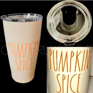 Nwt Rae Dunn pumpkin spice Tumblr hot & cold drink